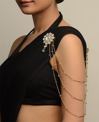 Black Saree Accessories