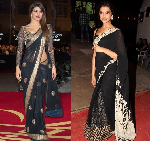 Black Saree Combination