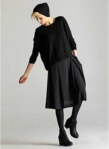 Black woolen top
