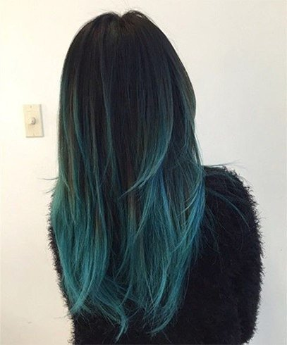 Blue and Black Hairstyle