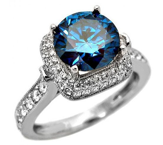 blue diamond wedding ring cuts colors and shapes of diamonds it all 1925