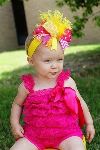 Bow headbands for babies