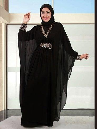 Latest Saudi Abaya Designs Stylish Collection of Black Burqa ...
