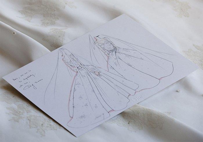 Angelababy wore Christian Dior Wedding Dress