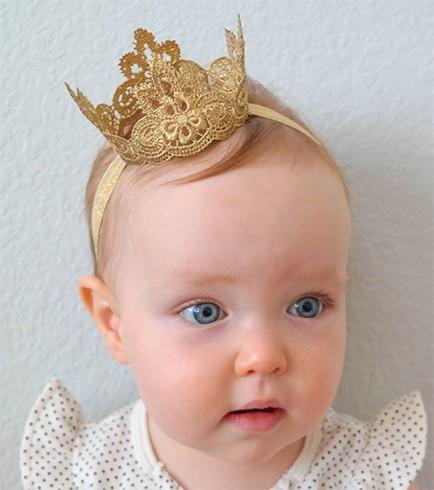 Crown headbands for babies