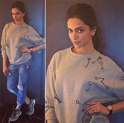 Deepika Padukone in Shahin Mannan keys sweatshirt