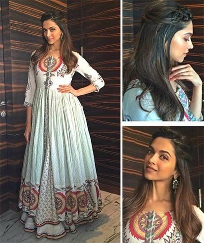 Deepika Padukone Looks Stunning In This Anarkali Gown