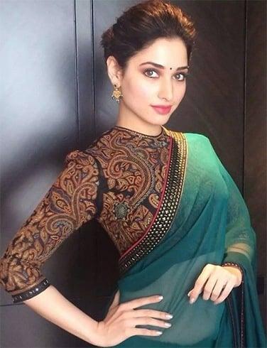 Designer plain sarees