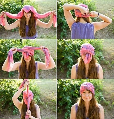 different ways to use a scarf