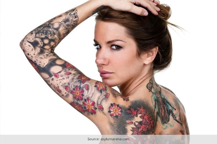 dry skin tattoo