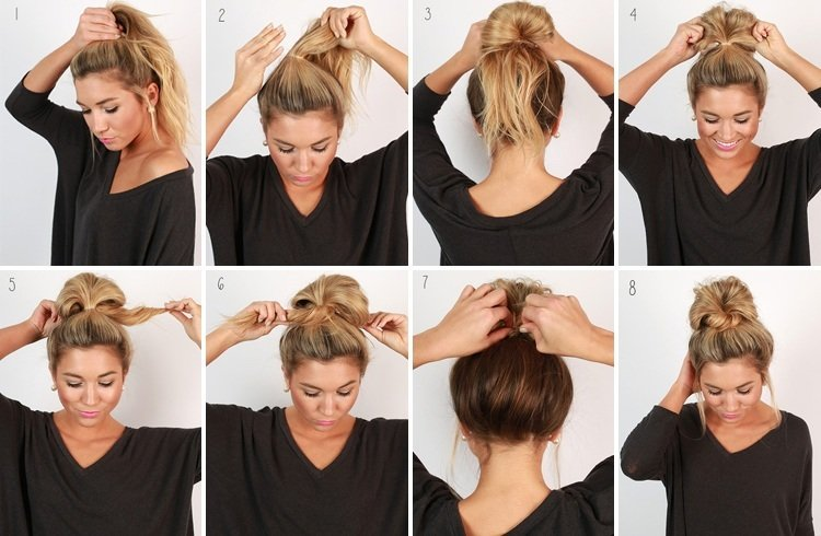 Easy Messy Buns For Long Thick Hair The Blouse