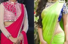 how to design a plain saree at home