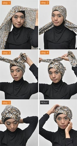 How To Tie a Turban Scarf
