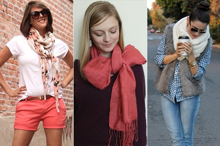 how to use scarves as accessories
