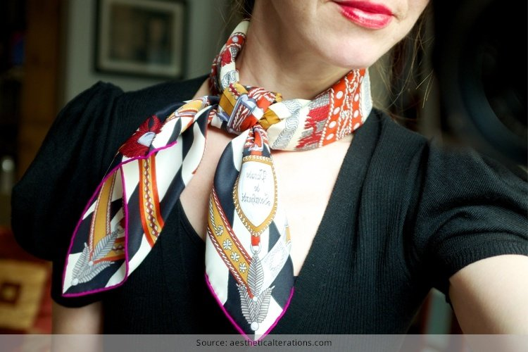 Learn How To Wear Hermes Scarf Look Like A Diva