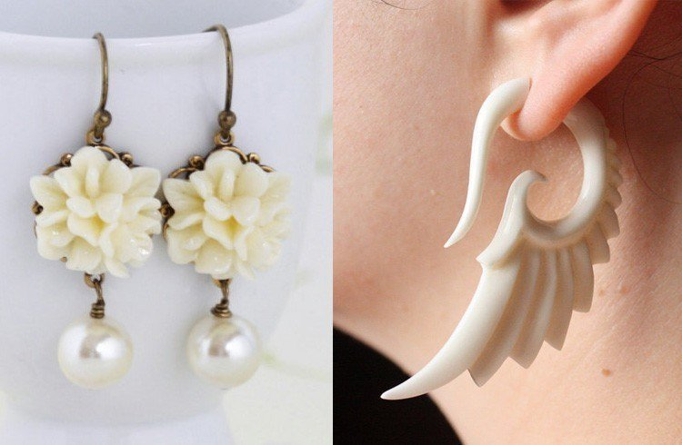 Ivory earrings