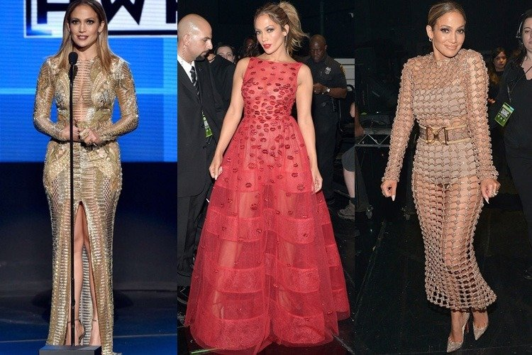 Jennifer Lopez at American Music Awards 2015