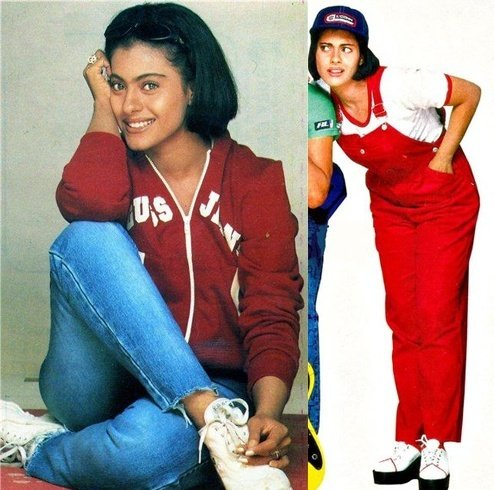 Kajol dress in Kuch Kuch Hota Hai