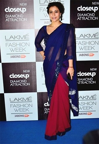 Kajol in designer saree