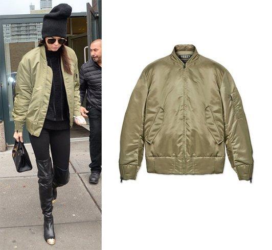 Kendall Jenner in bomber jacket