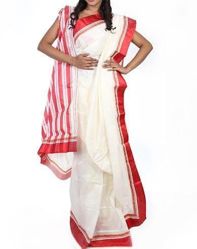 Korial lal paar sari