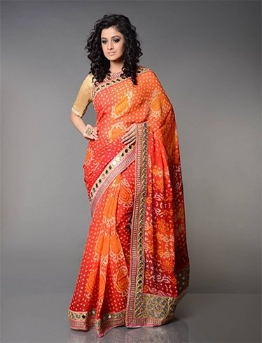Image result for bandhani sarees