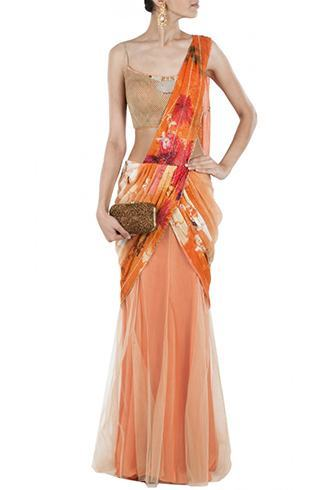 Lehenga half saree designs