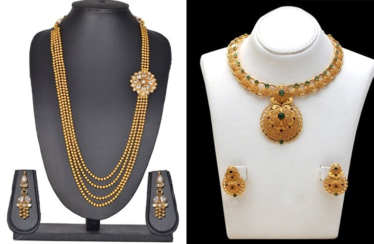 Less Weight Gold Jewellery Designs