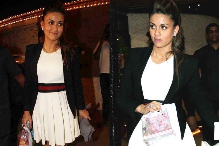 Natasha Poonawala in Gucci dress