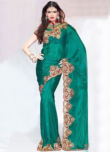 Plain saree work designs