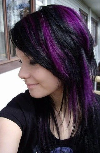 Trend Alert: Black And Purple Hair! Would You Dare?