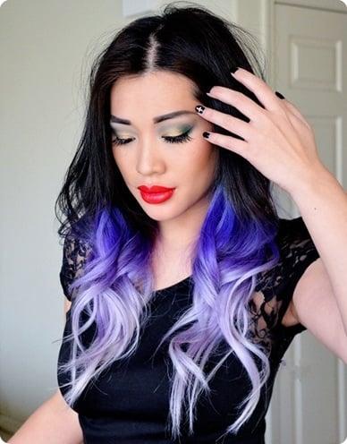 purple black hair style