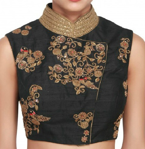 Zardozi Embroidery Designs For Blouses 24