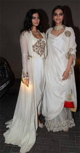 Sonam Kapoor and Rhea Kapoor at Masaba Gupta Wedding Reception