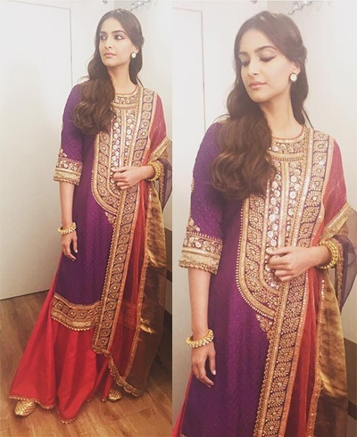 Sonam Kapoor in Anuradha Vakil outfits