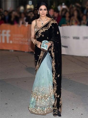 Sridevi in designer sarees