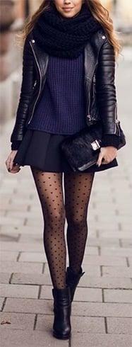 Stylish black skater skirt