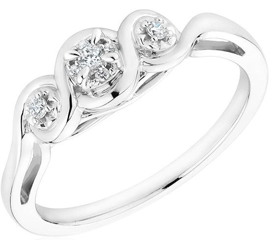 Three-stone promise ring