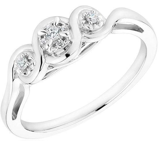 Three-stone promise ring