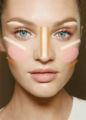 tips on how to make round face look thinner  makeup can