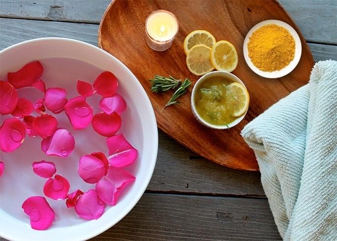 Turmeric lemone rose face pack
