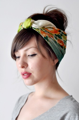 use scarves as accessories
