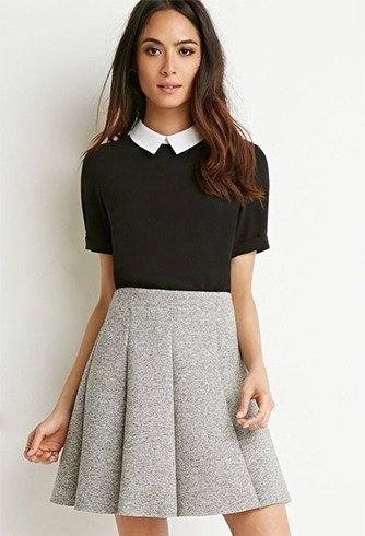 16 ways to wear a skater skirt this winter. Black Bedroom Furniture Sets. Home Design Ideas