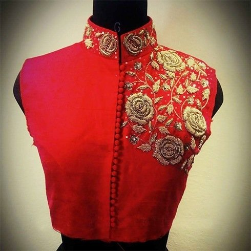 Zardozi Embroidery Designs For Blouses 67