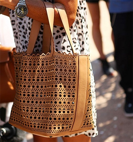 womens Laser-cut Leather Bags