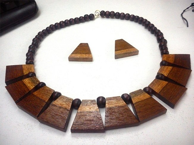 Wooden jewellery designs