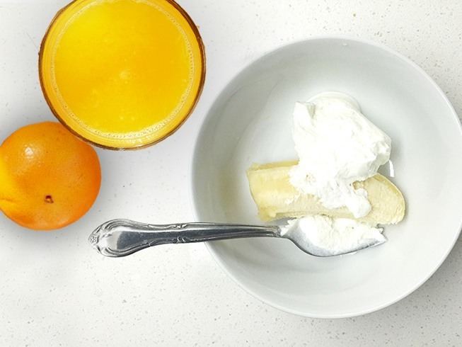 Yogurt, Banana and Orange Juice Face Pack
