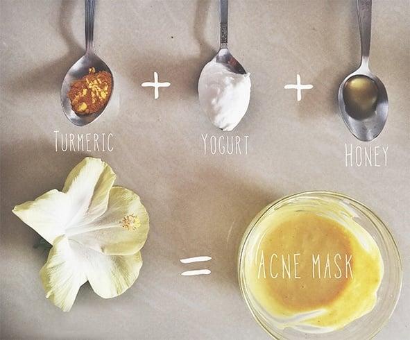 Yogurt, Honey and Turmeric Face Pack
