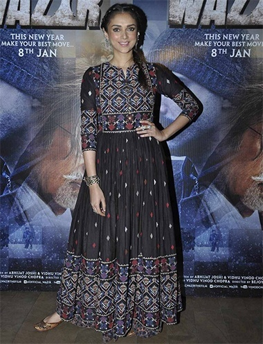 Aditi Rao Hydari At Wazir promotions
