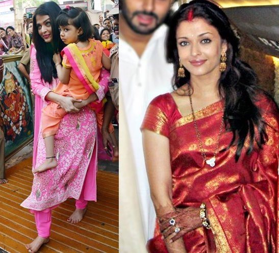 Aishwarya Rai at temples